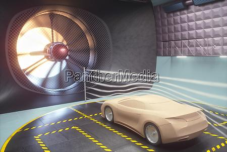 wind tunnel clay car design transportation