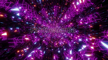 abstract wireframe design space galaxy 3d
