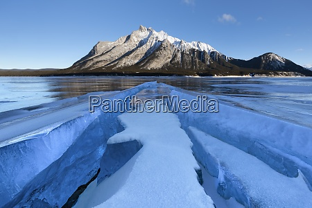 ice formations with mount michener in