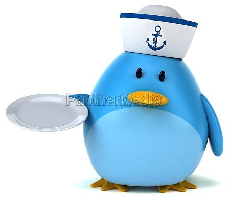 blue bird 3d illustration