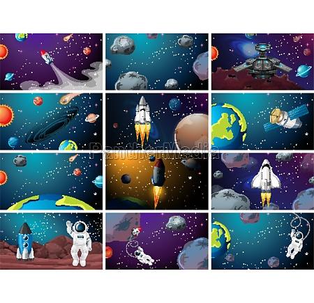 huge space scene set
