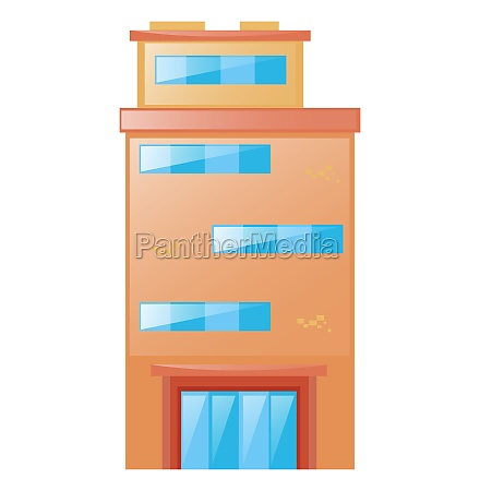 single building with glass door and