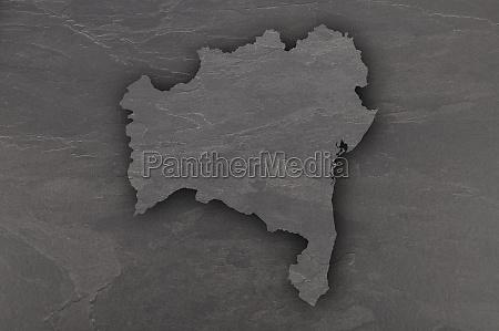 map of bahia on dark slate